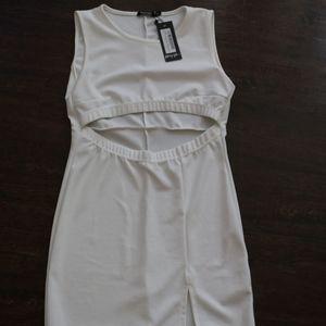Nasty Gal mini white dress